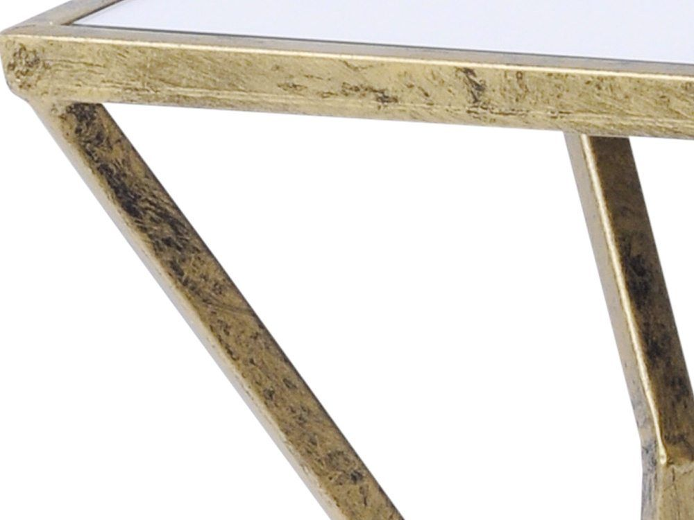 Rhonda Antique Gold Mirrored Side Table Tap To Expand